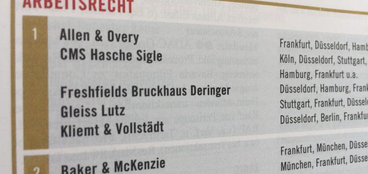 Cms Hasche Sigle München juve handbuch 2016 2017 kliemt vollstädt weiter an der spitze